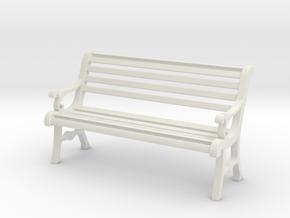 1:24 Garden Bench in White Natural Versatile Plastic