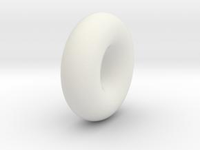Donut Improved in White Natural Versatile Plastic
