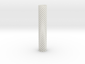 Square Perforated Tubing 16 cm in White Natural Versatile Plastic