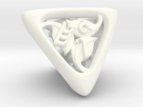Tengwar Elvish D4 in White Processed Versatile Plastic