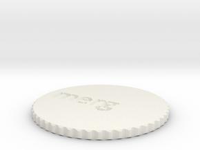 by kelecrea, engraved: merg in White Natural Versatile Plastic