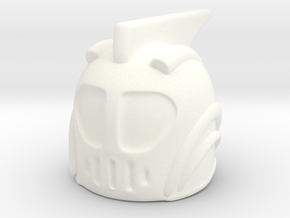 Rocketeer Helmet in White Strong & Flexible Polished
