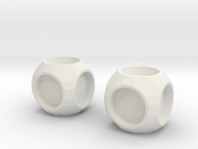 Cube2 in White Natural Versatile Plastic