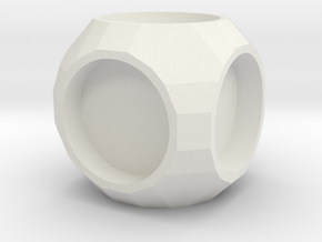 Cube1 in White Natural Versatile Plastic