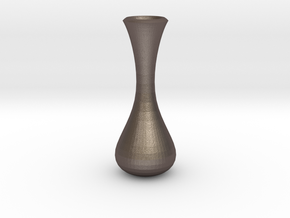 vase 6 in Polished Bronzed Silver Steel