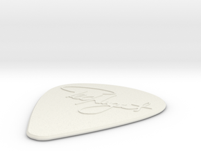 Ted Nugent Pick in White Natural Versatile Plastic