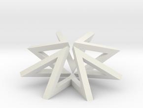 Regular Constant-torsion Polygon (++--)^4 in White Natural Versatile Plastic