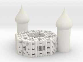 Onion Octagon Fractal Cathedral in White Natural Versatile Plastic
