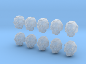 10 28mm Skull Helms Variety in Frosted Ultra Detail