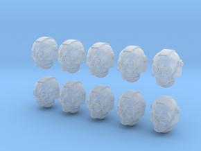 10 28mm Skull Helms Variety in Smooth Fine Detail Plastic