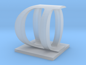 Two way letter / initial O&D in Smooth Fine Detail Plastic