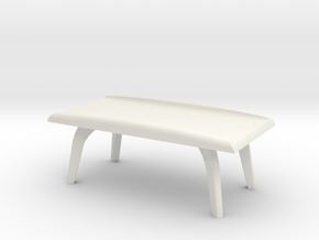 1:36 Moderne Coffee Table in White Natural Versatile Plastic