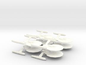 Dorman Class Attack Fleet (8 Ships) in White Processed Versatile Plastic