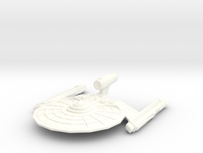 USS Dellambre in White Strong & Flexible Polished