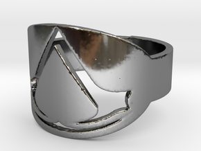 assassin's creed ring Ring Size 7 in Fine Detail Polished Silver