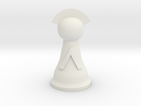 Lieutenant for Spartan Chess™  in White Natural Versatile Plastic