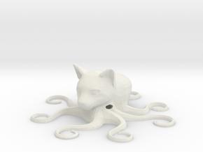 Octocat, hollow in White Natural Versatile Plastic