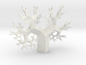 Wild Fractal Tree in White Natural Versatile Plastic