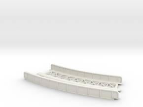 CURVED 245mm-270mm 30° DOUBLE TRACK VIADUCT in White Natural Versatile Plastic
