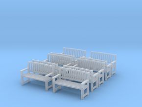 Bench type B - 1:35 scale 10 Pcs set  in Smooth Fine Detail Plastic