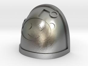 Reddit Alien shoulder Pad in Natural Silver