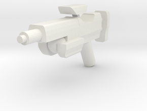 Minifig Gun 04 in White Natural Versatile Plastic