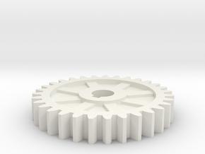gear mill in White Natural Versatile Plastic