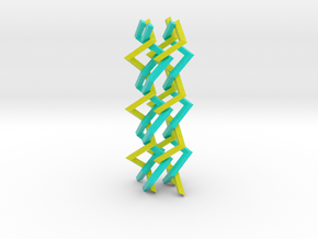 Three-dimensional z3 Chain-link Fence (Large) in Full Color Sandstone