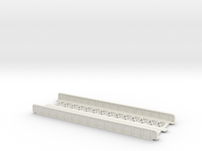 STRAIGHT 165mm DOUBLE TRACK VIADUCT in White Natural Versatile Plastic