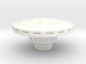 Part for Space Station in White Processed Versatile Plastic