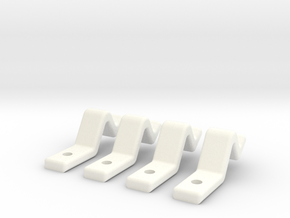 Door Clip Set  (Sliding Doors) - Most Scales in White Processed Versatile Plastic