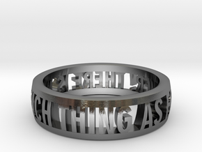 no such thing... ring (various sizes) in Polished Silver