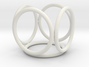Rings_Five in White Natural Versatile Plastic