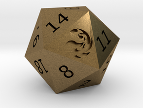 Mountain D20 in Natural Bronze