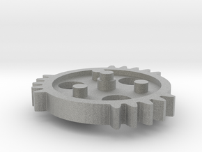 TSG - triple sector gear 2/3 scale keychain/neckla in Metallic Plastic