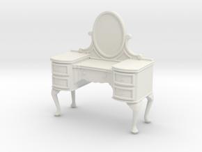 1:24 Queen Anne Vanity in White Natural Versatile Plastic