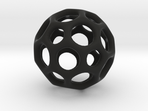 Soccerball frame - 3.1 cm in Black Strong & Flexible