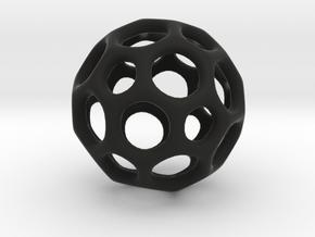 Soccerball frame - 3.1 cm in Black Strong & Flexible