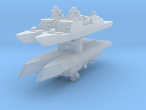 De Zeven Provinciën class frigate 1:6000 x4 in Frosted Ultra Detail