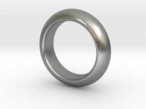 Sinoid Ring mm scale in Natural Silver