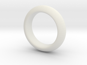 Sinoid Ring in White Natural Versatile Plastic