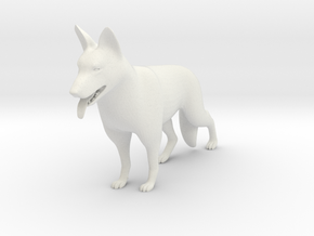 GermanShepard in White Natural Versatile Plastic