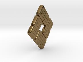Mayan Design 01 in Polished Bronze