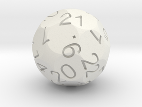 Alt D24 Sphere Dice in White Natural Versatile Plastic