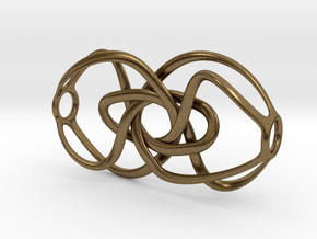 Expanding Knot - Pendant in Natural Bronze