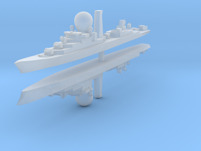 Suffren Frigate 1:3000 x2 in Smooth Fine Detail Plastic