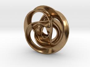 Trefoil Pendant 38mm in Natural Brass