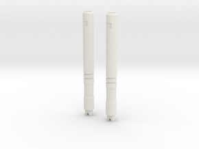 Sunlink - Assailment Barrel Cannons in White Natural Versatile Plastic