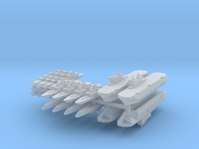 French Fleet 1  1:6000 (20 Ships) in Smooth Fine Detail Plastic