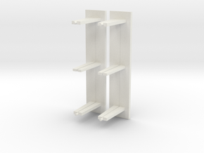 Abri bushalte glas lang model schaal N in White Natural Versatile Plastic